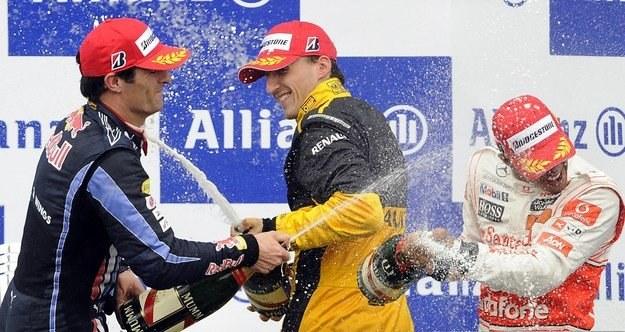 W Belgii Robert Kubica stanął na podium /AFP