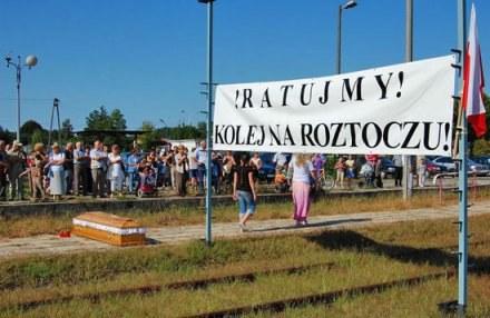 W Bełżcu pożegnano koleje /zamosconline.pl
