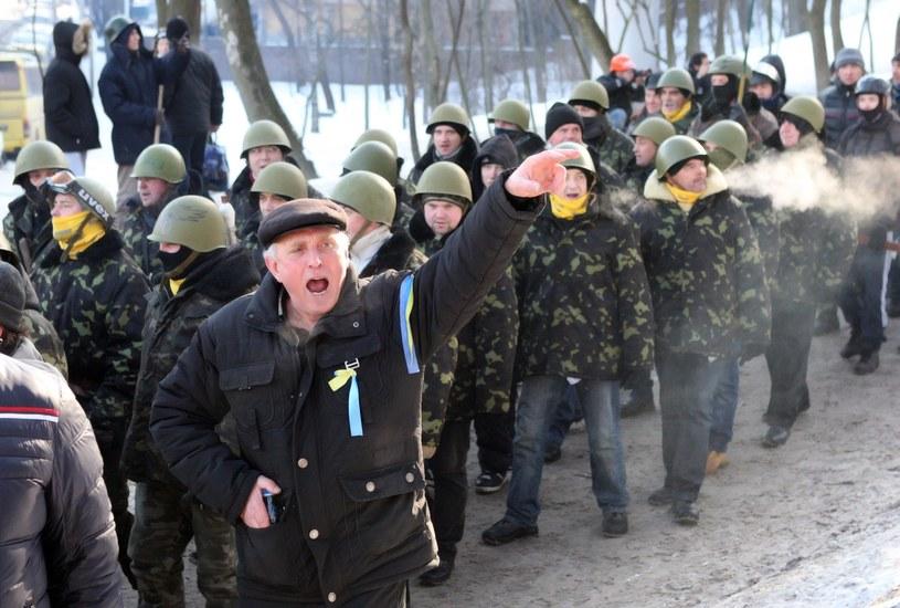 W budynku zajmowanym przez ukraińskich opozycjonistów w Kijowie doszło do wybuchu. /IGOR KOVALENKO /EPA