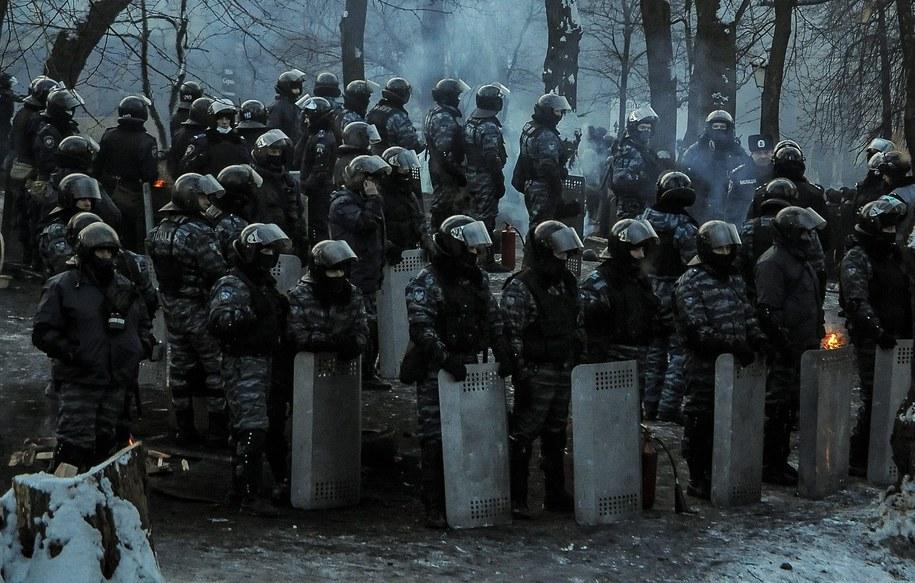 W Czerkasach i w Sumach milicja rozegnała demonstracje blokujące budynki obwodowej administracji /ROMAN PILIPEY /PAP/EPA