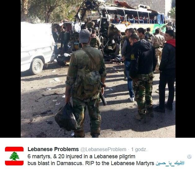 W Damaszku doszło do zamachu na autokar /Twitter