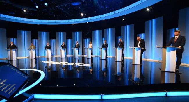 W debacie wzięło udział 10 z 11 kandydatów na prezydenta /Radek Pietruszka /PAP