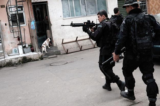 """W fawelach policja stosuje """"strategię strachu"""" /INTERIA.PL"""