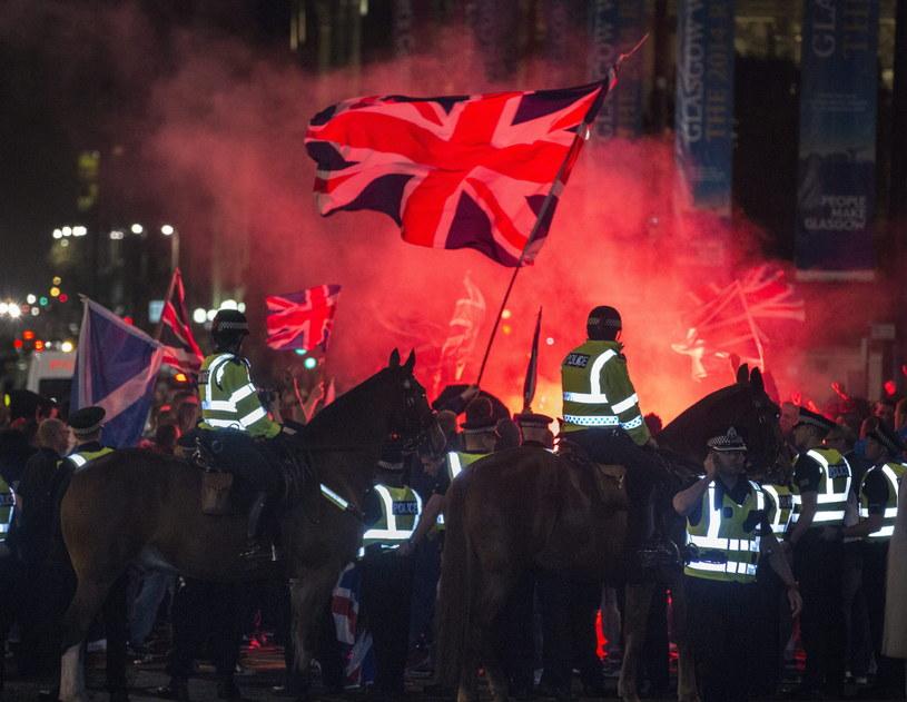 W Glasgow doszło w piątek do incydentów /PAP/EPA