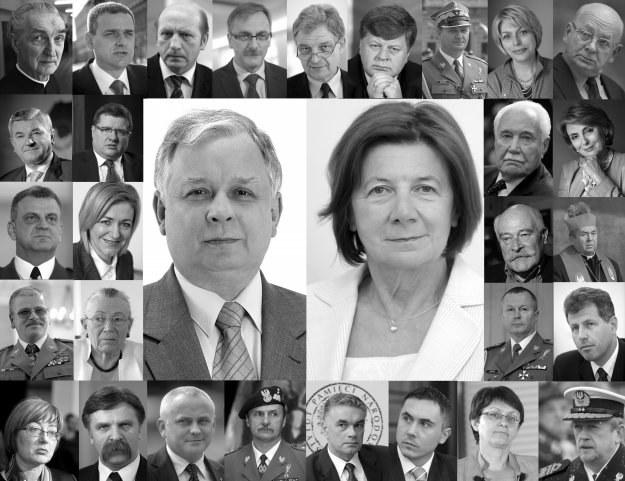 W katastrofie samolotu zginął m.in. prezydent oraz jego małżonka /Agencja FORUM