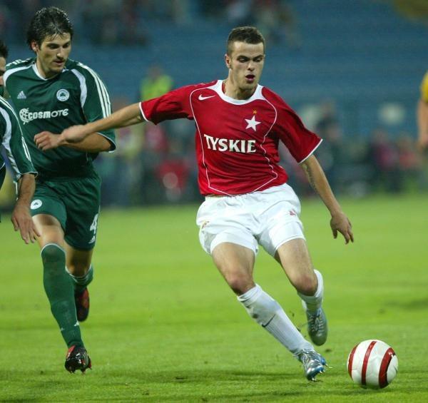 W Krakowie Paweł Brożek był za szybki dla obrońców Panathinaikosu/fot. Tomasz Rytych /Agencja SE/East News
