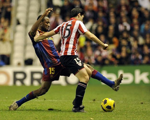 W meczu Barcelony z Athletikiem Bilbao trzeszczały kości! /AFP