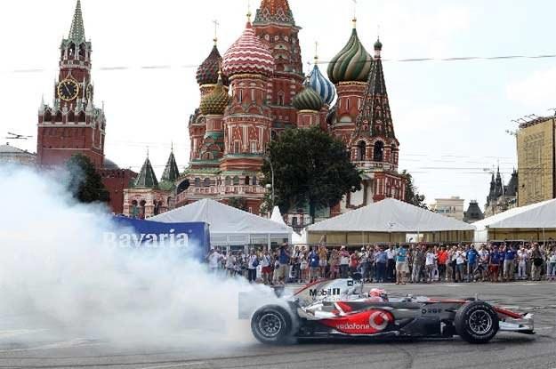W miniony weekend w Moskwie odbył się Bavaria Moscow City Racing. Jeździł sam Jenson Button /