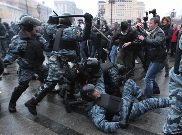 W Moskwie doszło w sobotę do zamieszek /AFP