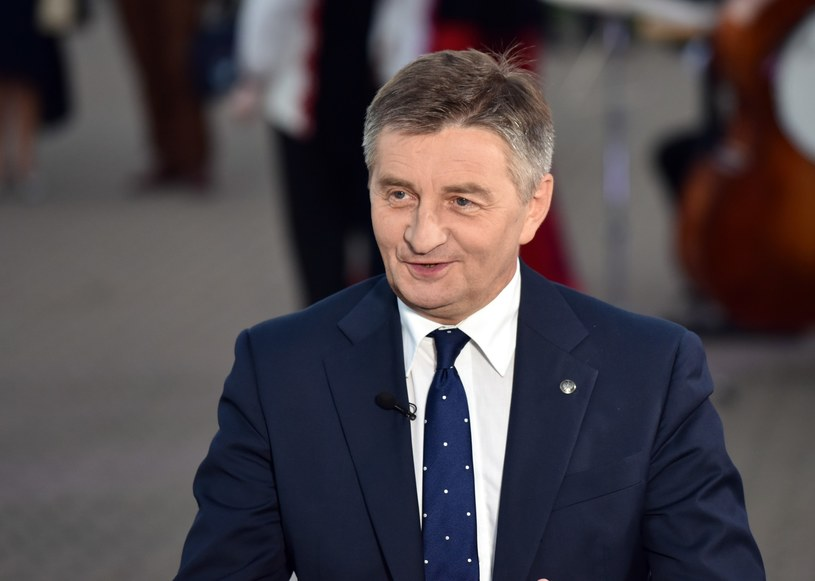 W okręgu krośnieńskim szefem PiS ponownie został marszałek Sejmu Marek Kuchciński /Artur Barbarowski /East News