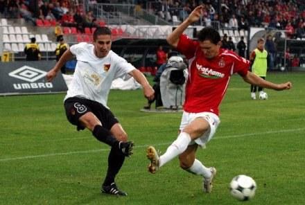 W ostatnim meczu ligowym Wisła pokonała Jagiellonię 2:1 Fot. Joanna Żmijewska /INTERIA.PL
