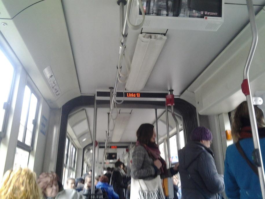 W piątek trzynastego o 13:13 na pokładzie tramwaju numer 13 pojawił się nasz mikrofon. /Michał Dobrołowicz /RMF FM