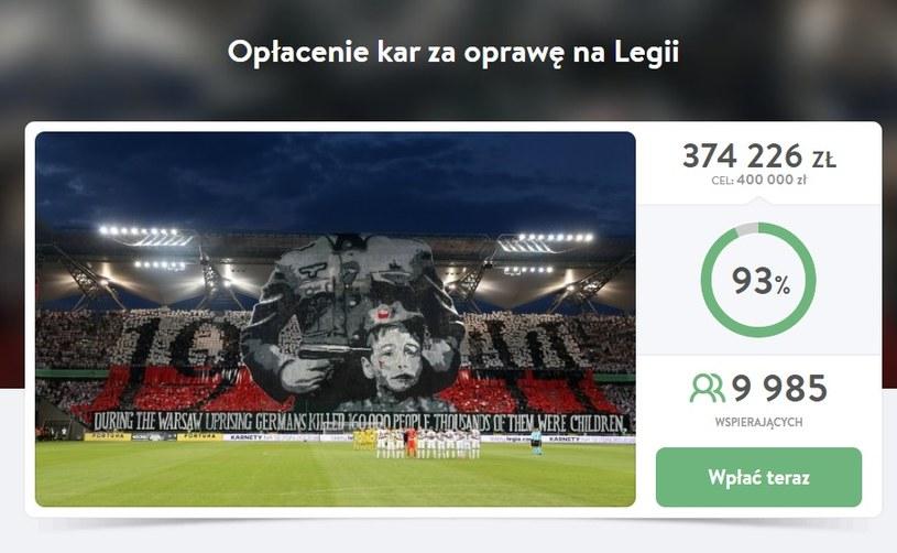 W południe 22 sierpnia taki był stan zbiórki dla powstańców na Pomagam.pl. /