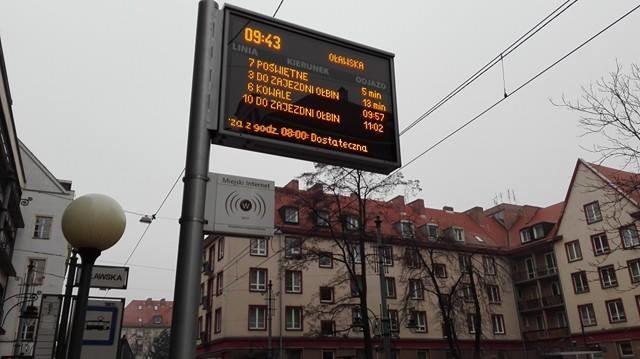 W poniedziałek tablice wyświetlały informację o tym, że jakość powietrza we Wrocławiu jest dostateczna /Bartłomiej Paulus /RMF FM