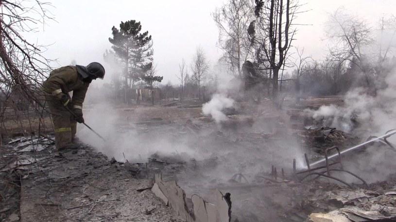 W pożarach zginęło już 25 osób /RUSSIAN EMERGENCY MINISTRY / HO /PAP/EPA
