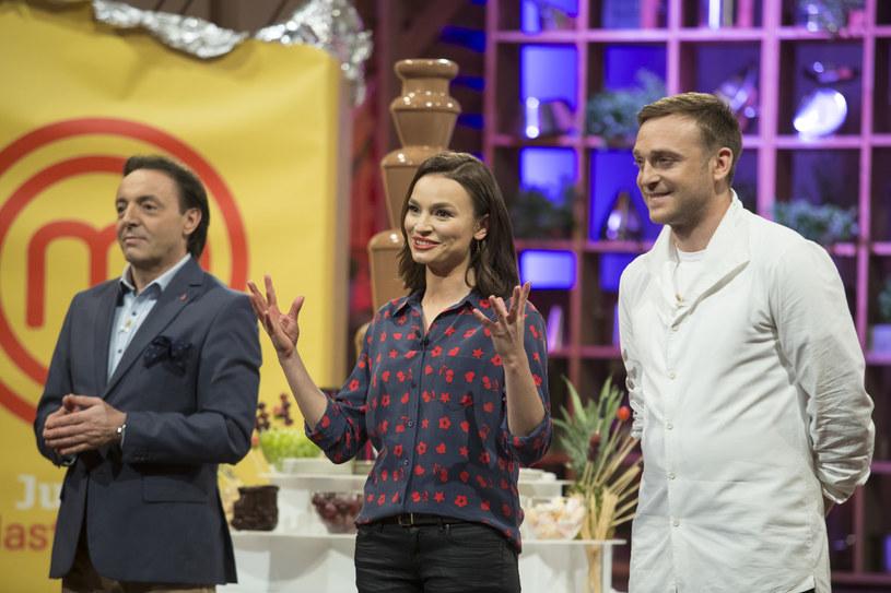 "W programie ""Masterchef Junior"" z Michelem Moranem i Anną Starmach /AKPA"