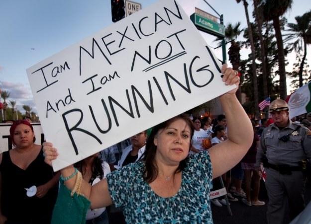 W prostestach udział wzięło kilkadziesiąt tysięcy immigrantów /AFP