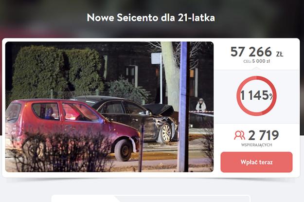 W serwisie pomagam.pl trwa zbiórka pieniędzy na nowe auto dla Sebastiana K. /