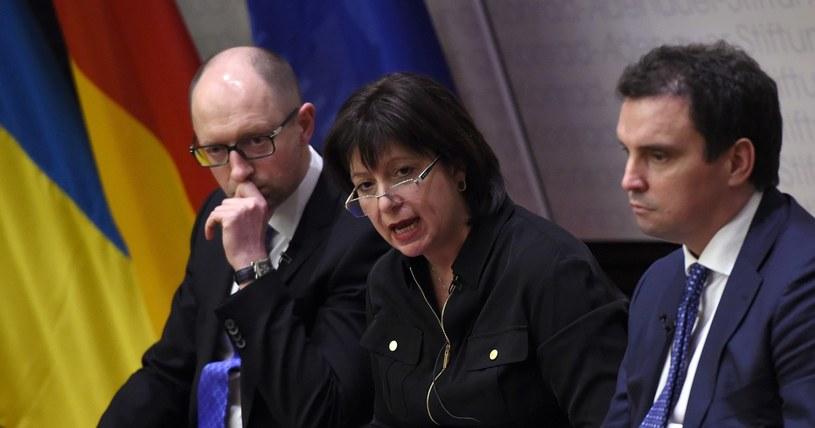 W środku Natalie Jaresko - minister finansów Ukrainy /AFP