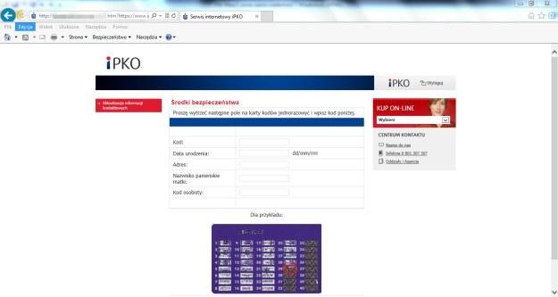 W taki sposób pułapka wyłudza od klientów PKO BP ich dane /materiały prasowe