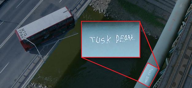 """W trailerze bollywoodzkiego filmu """"Kick"""" można zobaczyć napis """"Tusk pedał"""" /Marcin Rapacz /INTERIA.PL"""