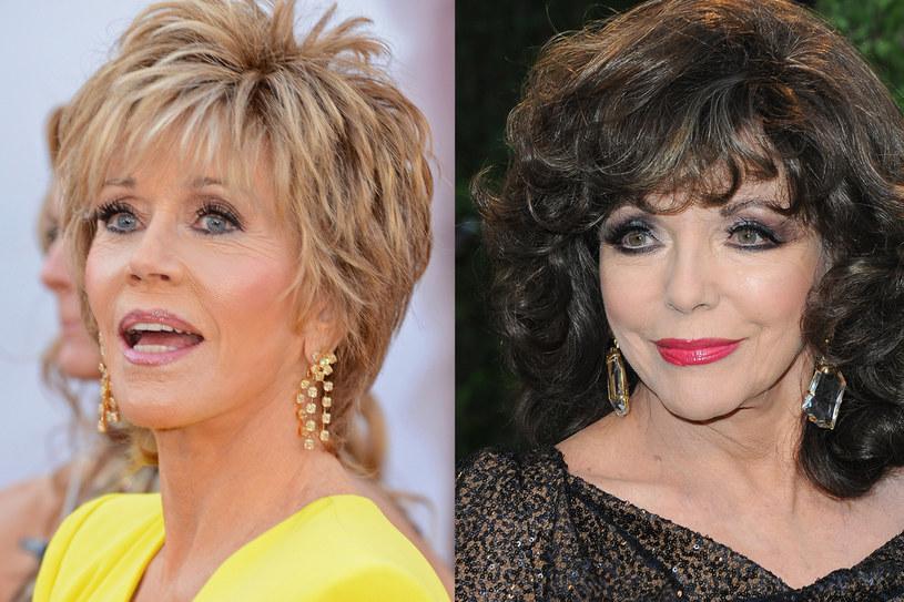 W tym roku Jane Fonda kończy 75 a Joan Collins 80 lat! Wciąż wyglądają młodo /Getty Images