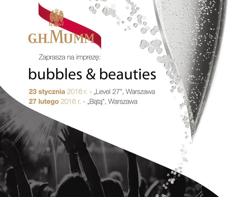 """W Warszawie odbędą się dwie imprezy z cyklu """"bubbles&beauties"""" /materiały prasowe"""