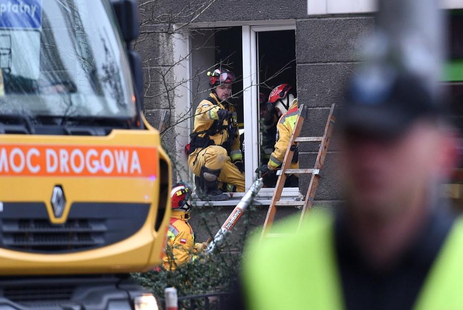 W wyniku wybuchu rannych zostało pięć osób /Radek Pietruszka /PAP