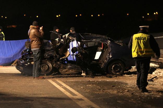 W wypadku zginęło dwóch policjantów /Tytus Żmijewski /PAP