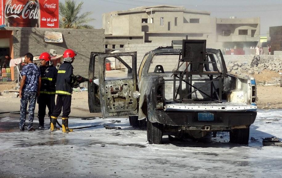 W zamachach zginęło ponad 40 osób /KHALIL AL-A'NEl /PAP/EPA
