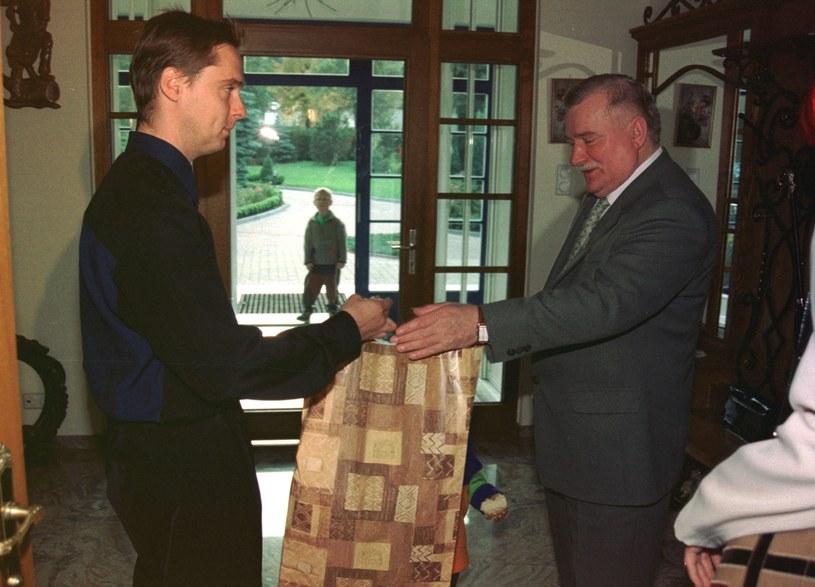 Wałęsa z synem /- /East News