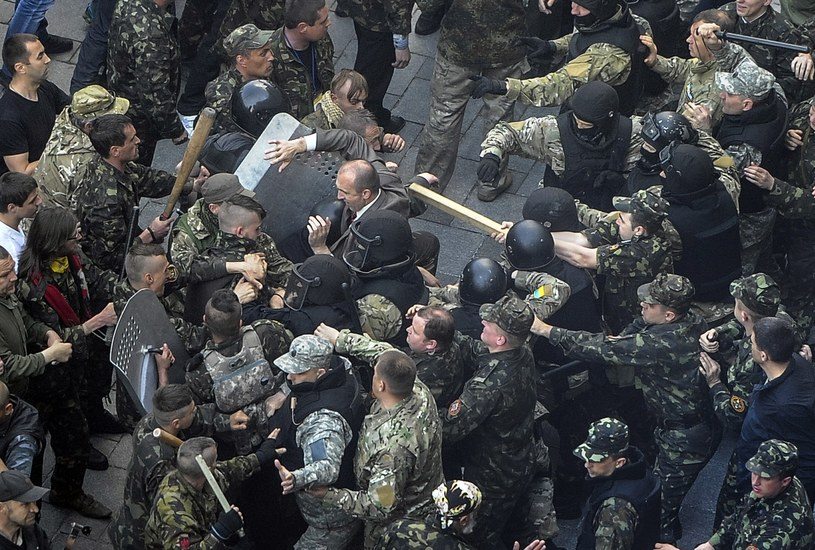 Walki w Kijowie /AFP