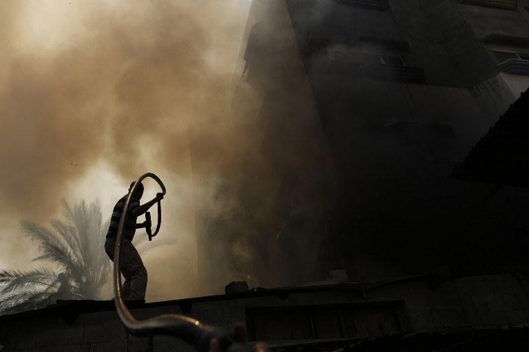 Walki w Strefie Gazy /AFP