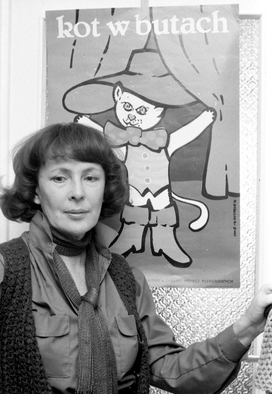 Wanda Chotomska na zdjęciu archiwalnym z lutego 1980 roku. /Marian Sokołowski    /PAP