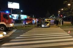 Warszawa: Radiowóz zderzył się z samochodem dostawczym