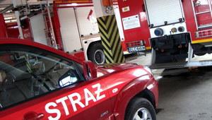 Warszawa: Samochód dostawczy zapalił się na S2