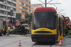 Warszawa: Wypadek tramwaju na Grójeckiej