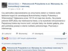 Warszawscy urzędnicy grają w gorącego kartofla na Facebooku