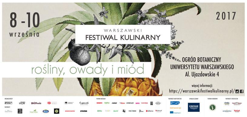 """Warszawski Festiwal Kulinarny """"Rośliny, Owady i Miód"""" /materiały promocyjne"""