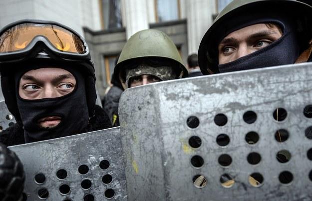 Wasyl Serhijenko popierał Majdan w Czerkasach. Na zdjęciu protesty w Kijowie - luty /AFP