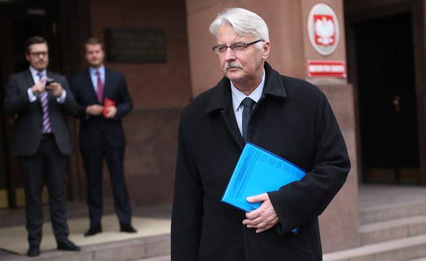Waszczykowski: Należy rozważyć przesunięcie polskich policjantów z Kosowa na którąś z granic UE