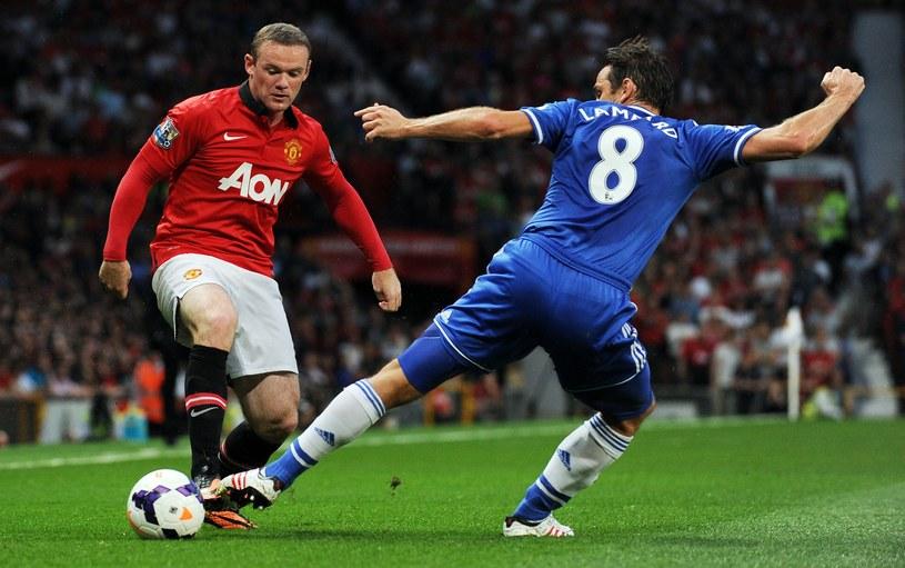 Wayne Rooney i Frank Lampard z Chelsea /AFP