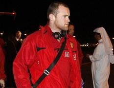 Wayne Rooney w Katarze przez meczem Man Utd