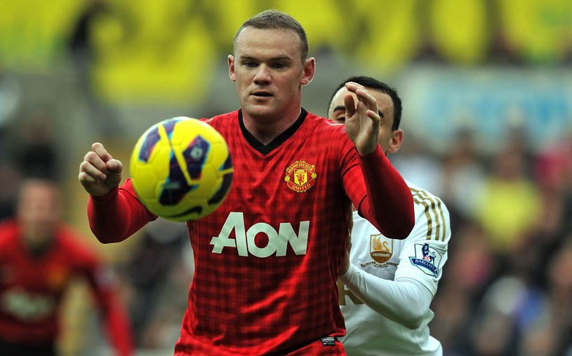 Wayne Rooney w meczu ze Swansea City /AFP
