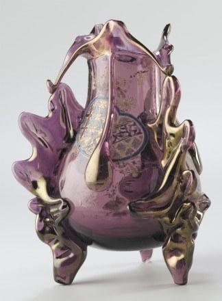 Wazon o trzech podstawach dekorowany emalią, August Jean, 1880 ? 1890, Paris, Musée d'Orsay /