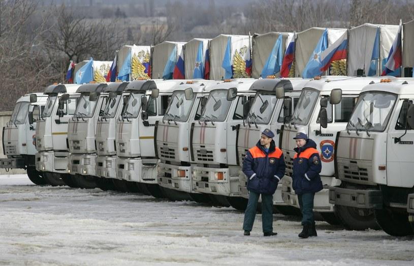 """Wczoraj do Zagłębia Donieckiego przybył kolejny rosyjski """"konwój humanitarny"""" /PAP/EPA"""