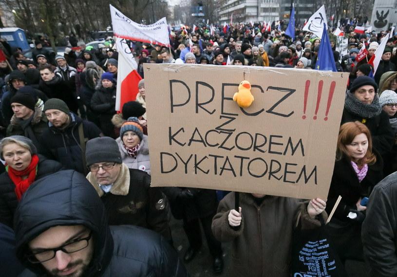 Wczorajsza manifestacja KOD /Paweł Supernak /PAP
