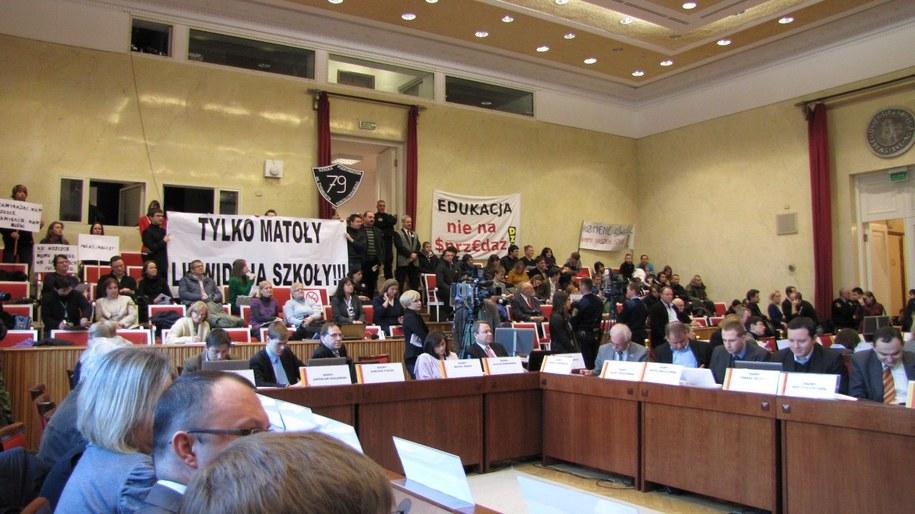 Wczorajsza sesja rady miasta  /Piotr Glinkowski /RMF FM