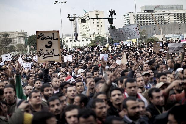 Wczorajsze manifestacje w Kairze /AFP