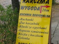 We Wdzydzach Kiszewskich można spotkać takie oto menu.